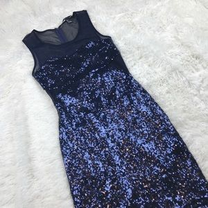 Forever 21 Blue Sequin Holiday Cocktail Dress